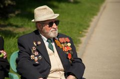 Veteran of the World War II Royalty Free Stock Image