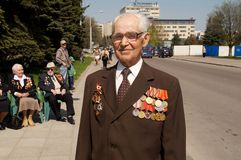 Veteran of the World War II Stock Photography