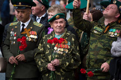 Veteran of of World War II. Yoshkar-Ola, Russia May 9, 2017 Photo veterans of of World War II of 1941 1945, present at the parade in honor of Victory Day on May Stock Photo