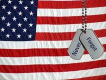 Veteran&x27;s Tribute On Dog Tags Stock Image