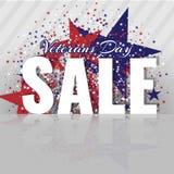 Veterandag Sale Hedra alla som tjänade som Abstrakt bakgrund med amerikanska flaggan och stjärnor Royaltyfria Bilder