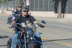 Veterane auf den Motorrädern lizenzfreie stockfotografie