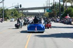 Veterane auf den Motorrädern stockfoto