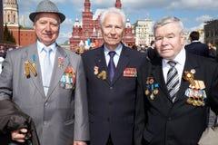 Veterane der Arbeit auf Sieg-Tagesfeier Stockbild