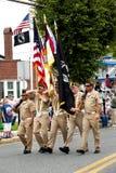 Veterane der Parade der Auslandskriegs-(VFW) stockfotografie