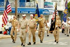 Veterane der Parade der Auslandskriegs-(VFW) stockfoto