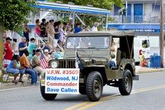 Veterane der Parade der Auslandskriegs-(VFW) stockbilder