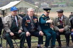 Veterane des Zweiten Weltkrieges Stockfotografie