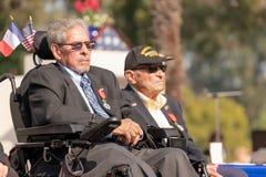 Veterane des Zweiten Weltkrieges, welche die Legion der Ehre empfangen stockbilder