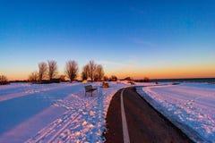 Veterane parken Sonnenuntergang stockfoto