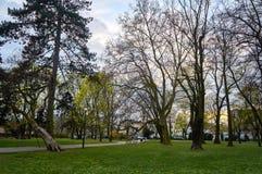 Veterane parken in Warschau, Polen am Frühling stockbild