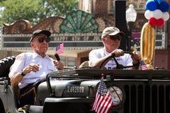Veteranen bij Vierde van de Parade van Juli Royalty-vrije Stock Afbeeldingen