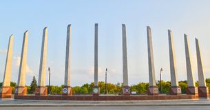 Veteranen-Erinnerungsbrücke in Fargo, Nd Lizenzfreie Stockfotos