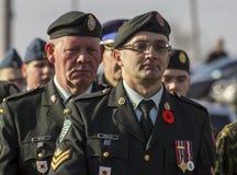 Veteranen maart royalty-vrije stock fotografie