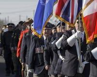 Veteranen maart stock afbeelding