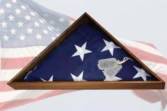 Veteranen-Markierungsfahne Stockfotos