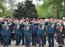 Veteranen op Victory Day stock foto