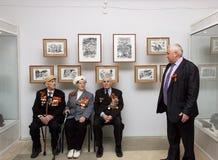 Veteranen op Victory Day Royalty-vrije Stock Foto
