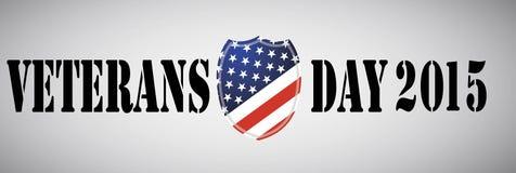 Veteranen-Tag-ebmleme Amerikanisches Schild stock abbildung