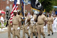 Veteranen van Buitenlandse Oorlogen (VFW) Parade stock afbeeldingen
