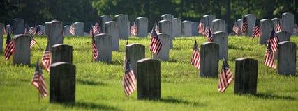 Veteranenbegraafplaats Stock Fotografie