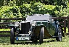Veteranenfahrzeug am Schloss Loucen Tschechische Republik am 7. Juli 2012 Lizenzfreie Stockfotos