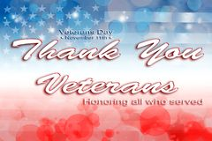 Veteranentagesamerikanische flagge Stockbild