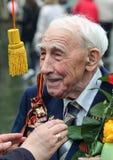 Veterani della fine di seconda guerra mondiale su Celebrazione del giorno di vittoria a Mosca Le migliori feste della Russia fotografie stock