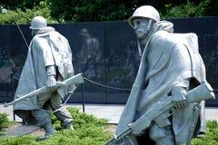 Veterani della Guerra di Corea commemorativi in Washington DC fotografie stock libere da diritti