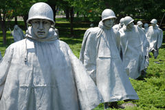 Veterani della Guerra di Corea commemorativi in Washington DC immagine stock libera da diritti