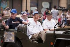 Veterani della guerra di Corea del 4 sulla parata luglio immagini stock libere da diritti