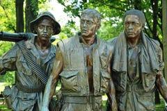 Veterani di guerra di Vietnam commemorativi in Washington DC Fotografie Stock Libere da Diritti