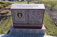 Veterani feriti di combattimento del Michigan commemorativi Fotografia Stock Libera da Diritti