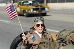 Veterano americano da mulher Imagens de Stock