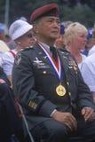 Veterano Coreano-Americano a cerimonia di anniversario della Guerra di Corea cinquantesimo, Washington, DC C Fotografie Stock
