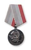 Veterano da medalha do trabalho imagem de stock royalty free