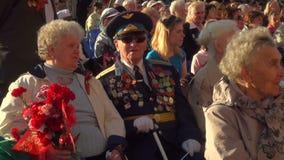 Veterano de guerra almacen de metraje de vídeo
