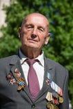 Veterano de guerra na parada em Kiev, Ucrânia Imagem de Stock Royalty Free