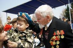 Veterano de la gran guerra patriótica Fotos de archivo libres de regalías