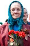 Veterano de la mujer mayor de WWII Fotos de archivo libres de regalías