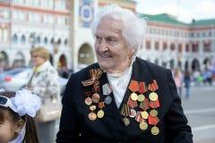 Veterano de la Segunda Guerra Mundial Imagen de archivo libre de regalías