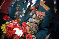 Veterano de las medallas de la Segunda Guerra Mundial Imagen de archivo