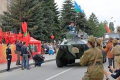 Veterano de operaciones militares en BTR-80 Pyatigorsk, Rusia Fotos de archivo libres de regalías