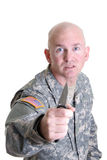 Veterano del combate fotografía de archivo