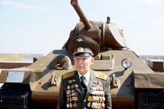 Veterano della battaglia di colonnello Vladimir Turov di Stalingrad Immagine Stock Libera da Diritti