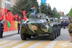Veterano delle operazioni militari su BTR-80 Pjatigorsk, Russia Immagine Stock Libera da Diritti