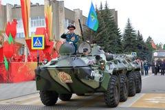 Veterano delle operazioni militari su BTR-80 Pjatigorsk, Russia Immagine Stock