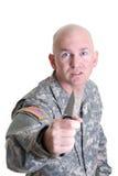 Veterano di combattimento Fotografia Stock