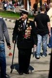 Veterano di grande guerra patriottica Immagini Stock