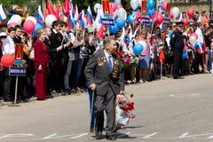 Veterano di grande guerra patriottica Fotografia Stock